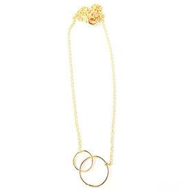 Verbundenheitskette/-Armband gold (zwei oder ein Ring)