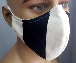"""Mund-Nasen-Maske """"Schwarz-Beige"""""""