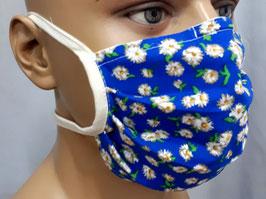 """Mund-Nasen-Maske """"Blümchen blau"""""""