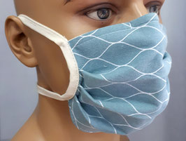 """Mund-Nasen-Maske """"Graublau"""""""