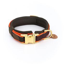 """Muddy Paw Collar """"Camoudog Savety orange"""" gold ~ eingeschränkte Größen - Einführungspreis"""
