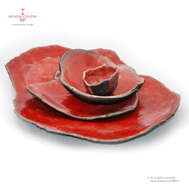 COROLLE ROSSO -  CENTERPIECE BY NINO BASSO