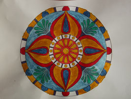 Mandala realizzato a mano