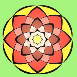 Mandala realizzato al computer