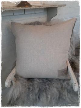 Großer Kissenbezug  Leinen /Wolle