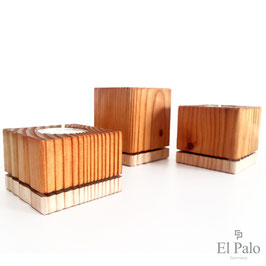 3 Kerzenhalter aus Holz - Gr. S - Vela 2.1 - El Palo Germany