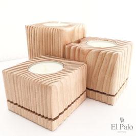 3 Kerzenständer aus Holz - Gr. S - Vela 2.0 - El Palo Germany