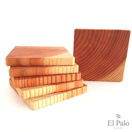 6 Glasuntersetzer aus Holz - Pino 1.1 - El Palo Germany