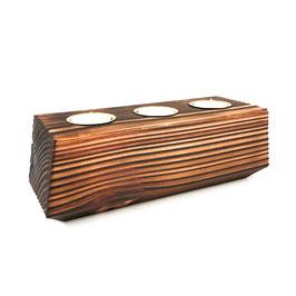 3 Kerzen + Kerzenhalter aus Holz- Vela Vector 3.0 - El Palo Germany
