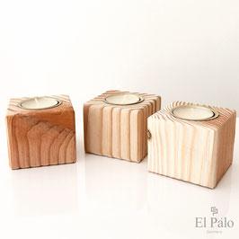 Kerzenhalter aus Holz - Gr. S - Vela 1.0 - El Palo Germany