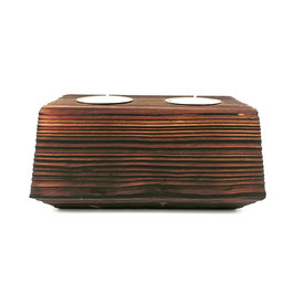 2 Kerzen + Kerzenhalter aus Holz- Vela Vector 5.0 - El Palo Germany