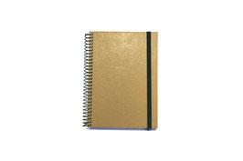 Cuadernos espiral con goma
