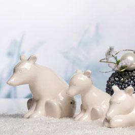 Tiziano Eisbär Baby Bitonto 11 cm sitzend creme