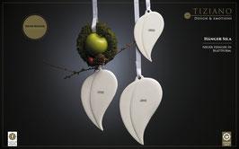 Tiziano Hänger Blatt Sila 16 cm creme