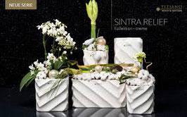 Tiziano Vase Sintra 26 cm hoch creme