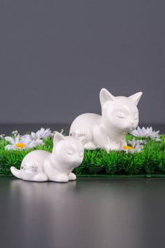 Tiziano Katze Sadira Kopf sitzend 11 cm creme