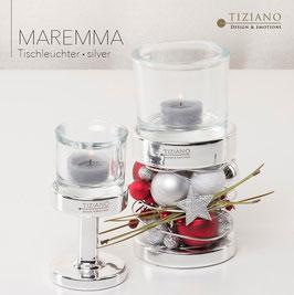 Tiziano Dekolicht Base Maremma Silber 20 cm