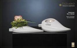 Blattschale Sila für Teelicht 16,5 cm