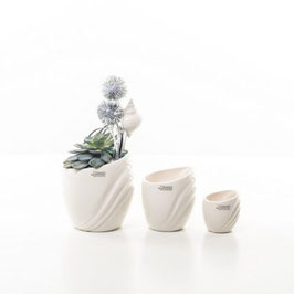 Tiziano Mini Kübel Taormina creme 8,5 cm