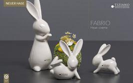 Tiziano Hase Fabrio stehend 25,5 cm creme