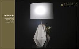 Tiziano Lampe Cristal creme 58 cm