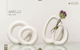 Tiziano Vase  Anello Relief rund creme 18 cm