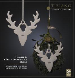 Tiziano Hänger Renntier Riola 12,5 / 14,5 / 17,5 cm creme