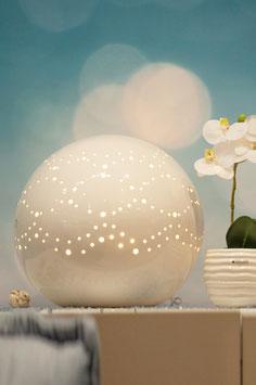 Tiziano Kugellampe Separio weiß-creme mit Stromanschluss