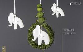 Hänger Elefant Aron 11cm creme