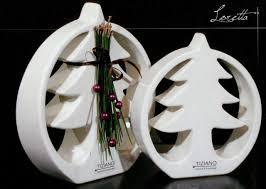 TIZIANO Deco Tree Loretta 25 cm creme