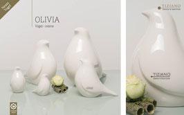 Tiziano Vogel Olivia 9 cm creme