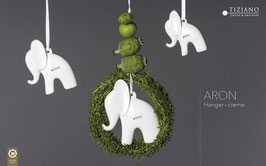 Hänger Elefant Aron 9cm creme