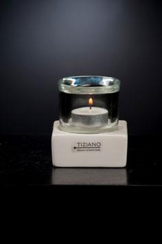 TIZIANO Tischlicht Mantova 7,5 creme-Rauchglas