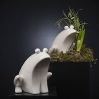 TIZIANO Frosch Golo creme   Höhe:  21 cm