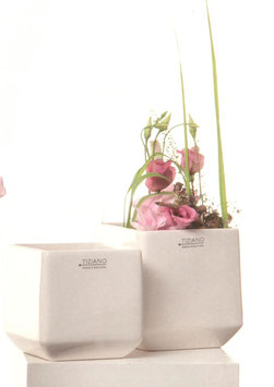 Tiziano Kübel Perano  12,5 cm Orchideentopf creme