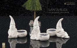 Tiziano Santa Rudi mit Licht liegend 11 cm creme