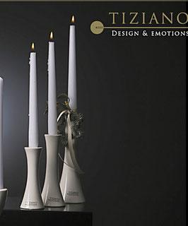 Tiziano Kerzenleuchter Tapino 21 cm creme