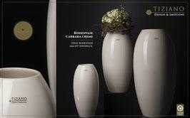 Tiziano Vase Carara 45 cm  hoch creme