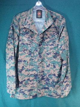 売切れ 海兵隊 ODピクセル ジャケット 女性用 35S  中古品