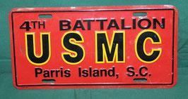 売切れ USMC アルミ製 ライセンス プレート 中古