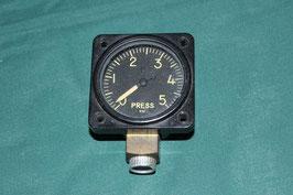 油圧ゲージ 0-5000PSI 航空機用 動作未確認