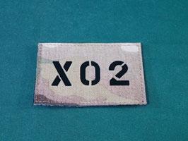 売切れ マルチカム IRコールサインパッチ X02