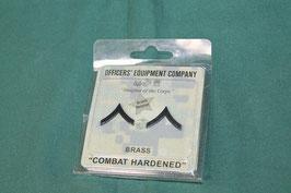 売り切れ USMC 一等兵用 階級章 ピンズ 新品