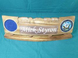 U.S.NAVY 木製プラーク