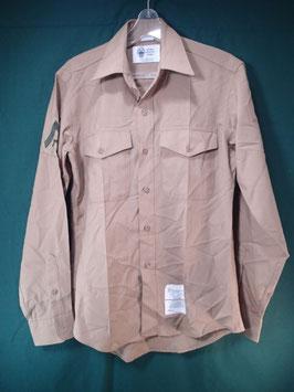 長袖 カーキシャツ 15 1/2×35 中古良品