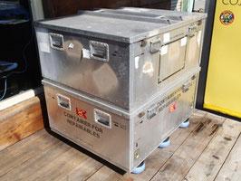 売切れ US NAVY 折り畳み型アルミ製コンテナ