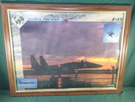 空軍 F15 イーグル 戦闘機 額縁