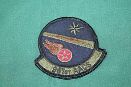 売切れ 961st AACS 空挺飛行隊 パッチ