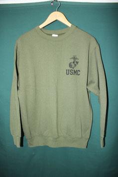 USMC ODスウェット長袖トレーナー CAC  中古