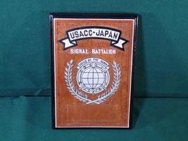 売切れ USACC-JAPAN 木製プラーク